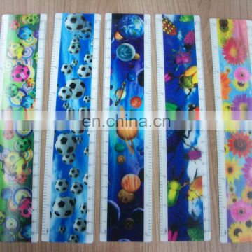 high quality lenticular effect UV printed animation ruler