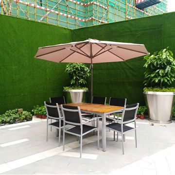 Oem Powder Coating Teak Outdoor Furniture Modern Teak Furniture