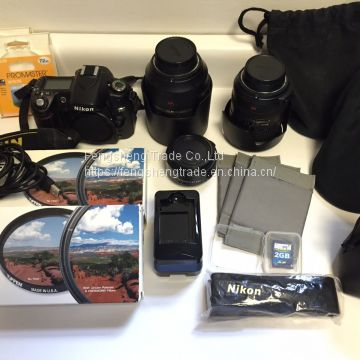 Cheap Nikon D80 10.2 MP DSLR KIT - 18-200mm f/3.5-5.6G VR - 105mm f/2.8G VR