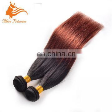 Top Aliexpress Hair Extensions Unprocessed Malaysian 100 Human Hair 1BT33 Ombre Color Silk Straight Remy Hair Weave
