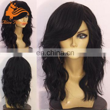 7A Grade Mongolian Human Hair Natural Wave Full Lace Frozen Elsa Wig From Qingdao Wig Making Supplies