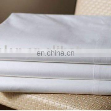 100% Egyptian cotton 80x80 400T satin white bed sheets for hotels