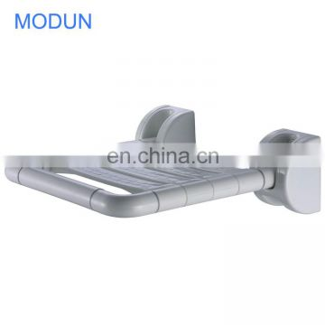 bathroom toilet airport safe anti-bacterial anti-slip foldable compound nylon and stainless steel shower toilet seat