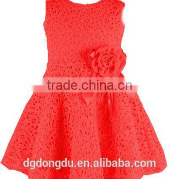 2015new summer dress lace casual dress lovely little party dress baby girl flower dress children clothes