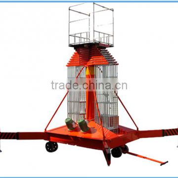 hydraulic mobile telescopic cylinder aerial work table raising lift platform