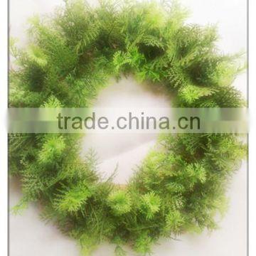 Christmas Garland Christmas Wreath Christmas Floral Hoop Blank Green Plastic Artificial Wholesale Christmas Wreaths
