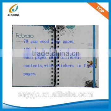 Spiral Notebook With Colored Paper Of New Design Notebooks Oem