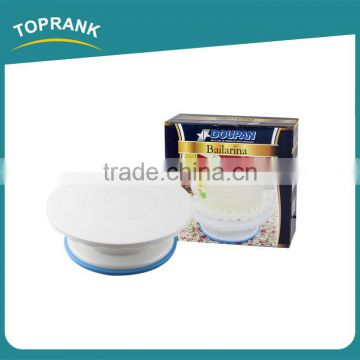 Toprank Walmart Supplier Best Price 27CM Cake Turner Kitchen Display Stand Cake Decorating Rotating Turntable Cake Stand