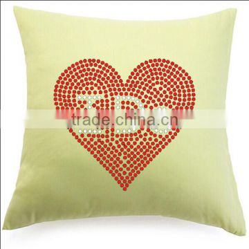 Simple Throw Pillow Rhinestone Motif For Home Decoration