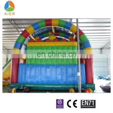 Colorful playground,inflatable bouncy fun city,giant jumping house