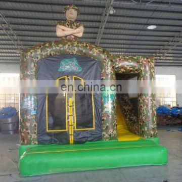 2017 hot selling new design 18x15 army Theme Inflatable Bouncer Combo