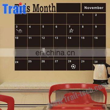 Eco-friendly Self-adhesive Memo This Month Blackboard Vinyl Wall Sticker Chalkboard Decal Removable