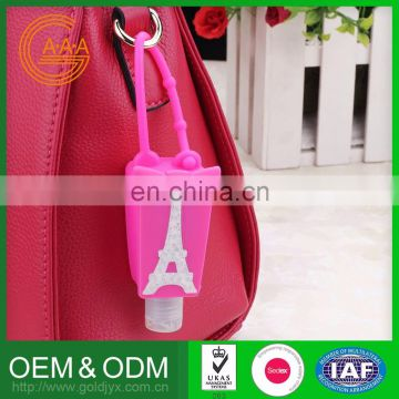 2016 Wholesale Custom Design silicone cute hand sanitizer holders