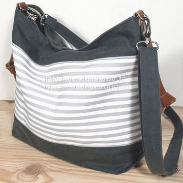 good selling waterproof canvas diaper bag with long shoulder