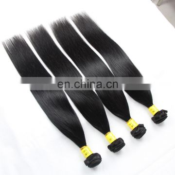 Fast shipping 100% indian human virgin remy 9A grade hair weaving in silky straight cuticle aligned hair