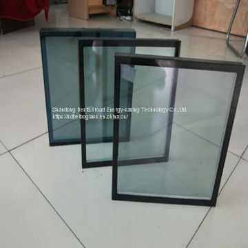 A vacuum between two tempered glasses insulated glass