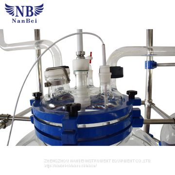 Single Layer Glass Reactor with 10L 200L