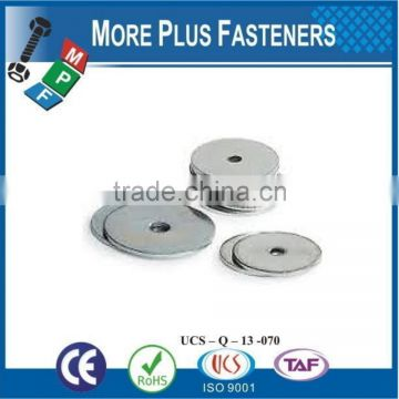 Made in Taiwan Fender Washer Zinc Plated Silicon Bronze Stainless Steel Thick