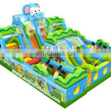 2015 new design safari giant inflatable playground for children for sale