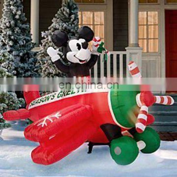 Inflatable mickey plane