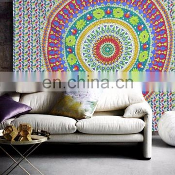 Hippie Indian Star Mandala Wall Hanging Queen Tapestry Ombre Beach Blanket Throw Wall Hanging Wall ethnic art picnic Wholesale