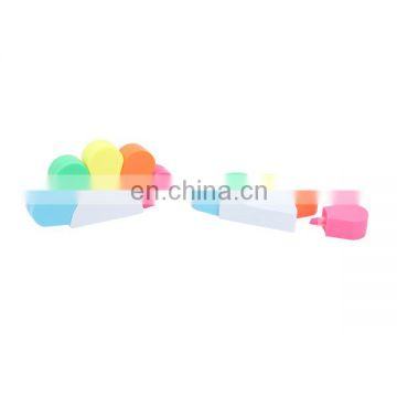 new flower shaped highlighter and multi color fluorescent highlighter