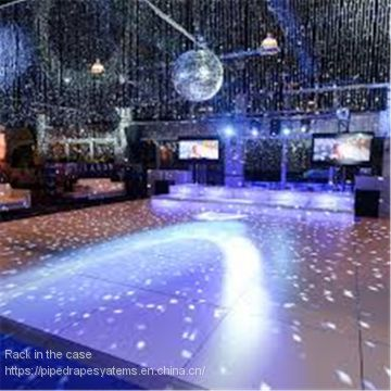 Wedding dance stage white and blake dance floor covering polish dance floor