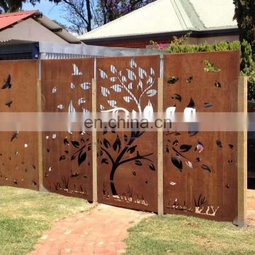 amazon hot sales plasma/laser CNC cut corten screen/panels
