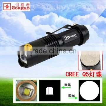 GOREAD C21 focusable torch led mini flashlight Q5 LED mini torch