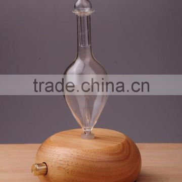 Elegant Wooden and Glass LED Aroma Diffuser Nebulization Oil Diffuser