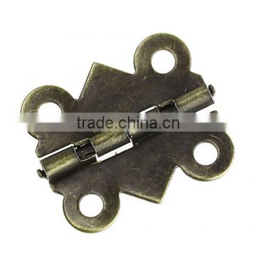 Antique Bronze 4 Holes Door Butt Hinges(rotated from 90 degrees to 210 degrees) 20mmx17mm