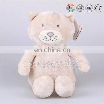 hotsale soft fabric small bear custom made plush toys with ribbon