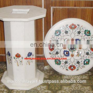 Round Marble Coffee Table Top With Marble Table Stand