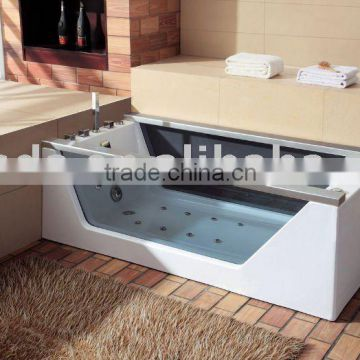glass panel massage bathtub