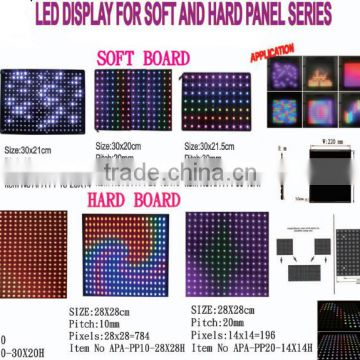 30x22 P10 apa102 pixel rgb matrix led panel 5v
