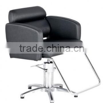 2015 Old styled salon chairs with U-footrest;Black barber chairs for Lady                                                                         Quality Choice