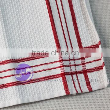 embroidery design white waffle weave hand towel wholesale