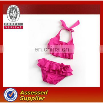 Rose cute girl bikini swimwear