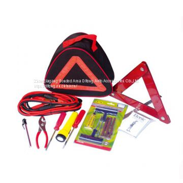 15 Pieces Premium Emergency Car Tools Kit in reflective triangle bag