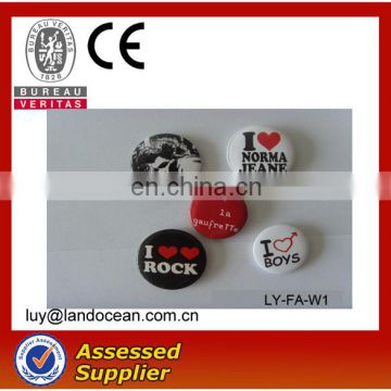 High Quality Color Printing custom made round button badge