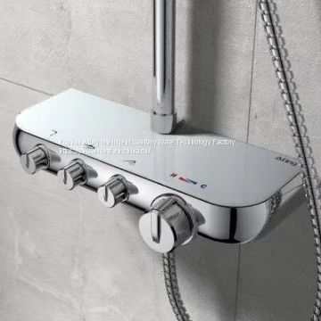 AT-P010 luxury bathroom shower set chrome colour 3 functions shower column with bracket Foshan supplier