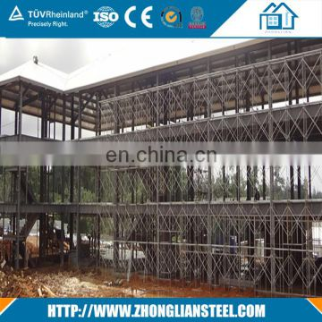 High rise construction design factory two story prefabricated steel structure warehouse