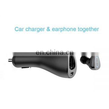 2 in 1 2.1A car charger + 4.1 bluetooth earphone
