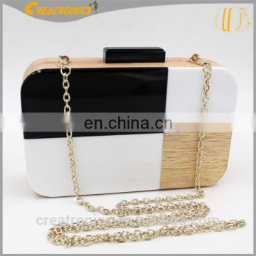 Trendy Mixed color Clutch Bag Fashion Box Clear Acrylic Evening Bag