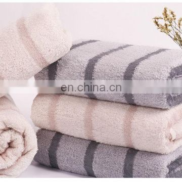 wholesale luxury striped bamboo fiber face towel