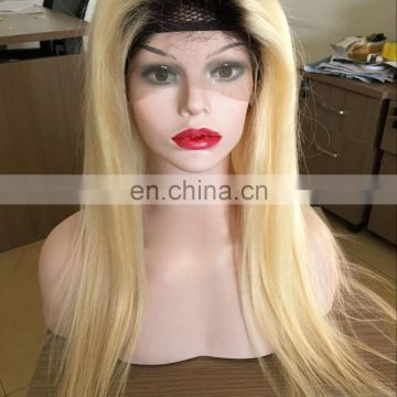 180% density cambodian hair 613 color full lace wig with baby hair