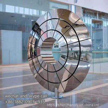 Customized Abstract Flowers Modern Art Stainless Steel Metal Sculpture Indoor