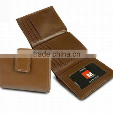 Hot selling Genuine leather 3 folds trifold women wallet