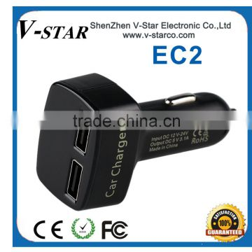Professional universal 5V3.1A usb car charger manufacturer,usb charger,mobile phone charger,electric bike