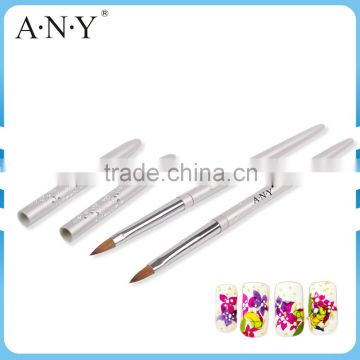 ANY Metal Handle 3D Acrylic Nail Brush/Professional Nail Art Brushes Manufacturer